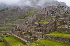 Partial view of Machu Picchu