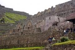 Partial view of Machu Picchu