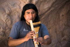 Andine Flute player