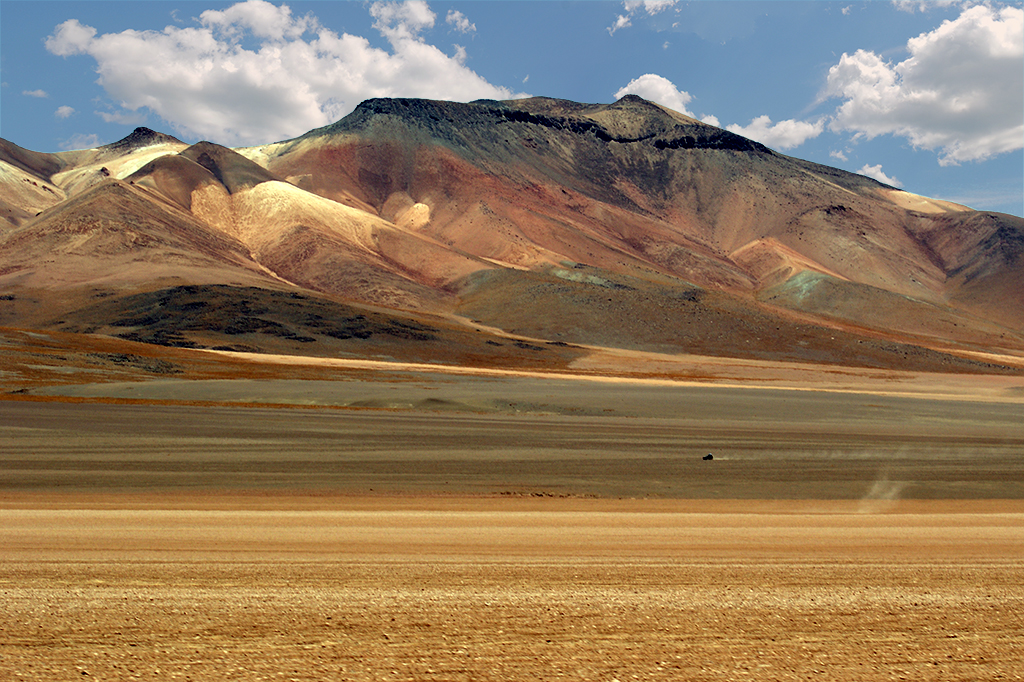 Bolivian Altiplano deserts and mountains.